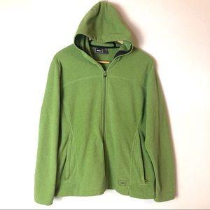 REI fleece zip up with zipper pockets EUC